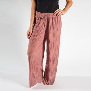 Pants - Rose palazzo pants